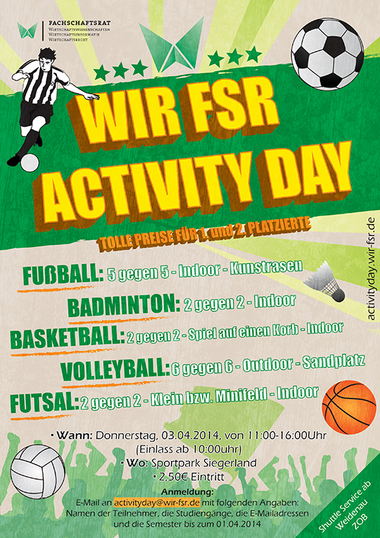 WIR FSR Activity Day Flyer Design